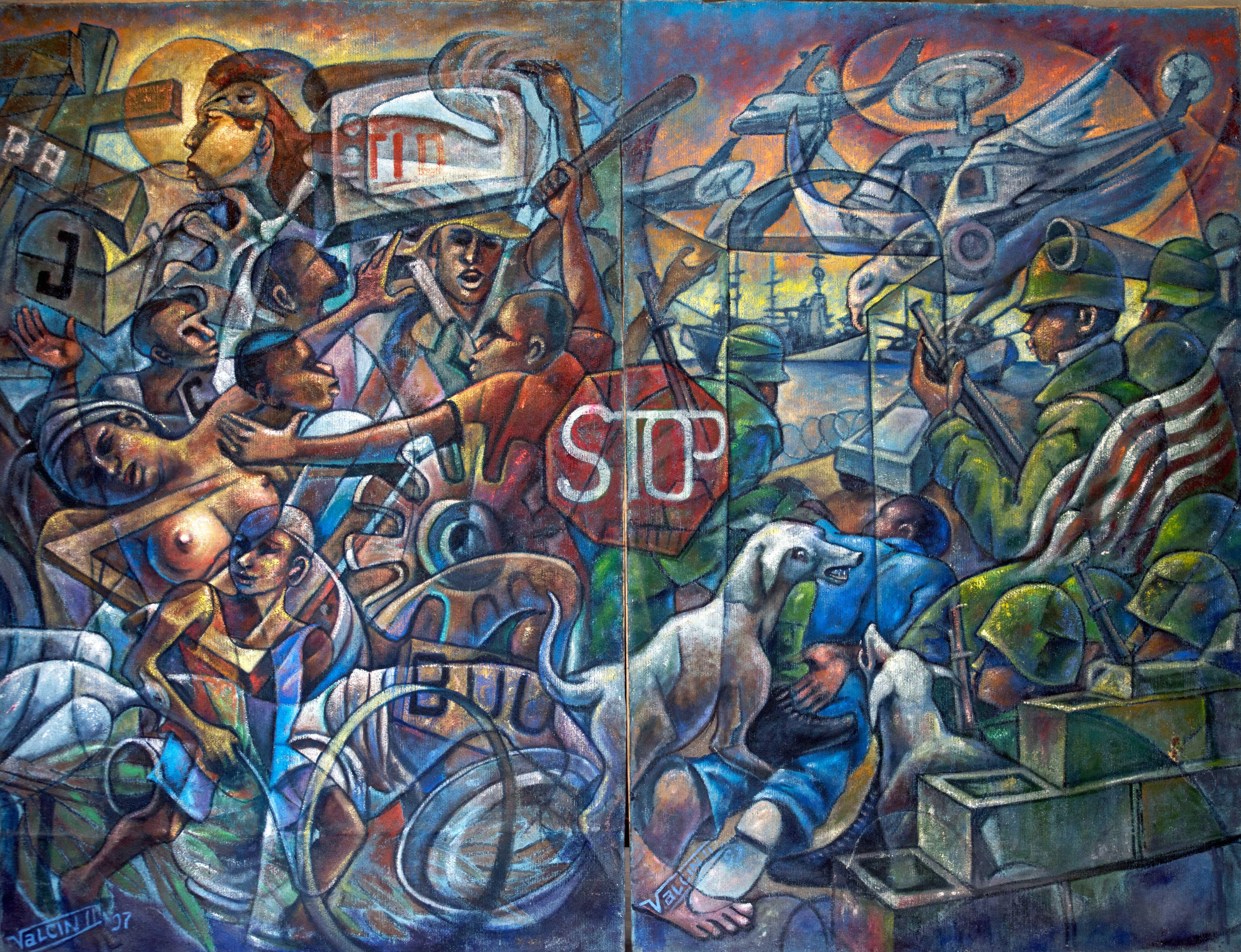 Turbulences en Haiti de 1984 a 1997-Quatriptiques (3&4)