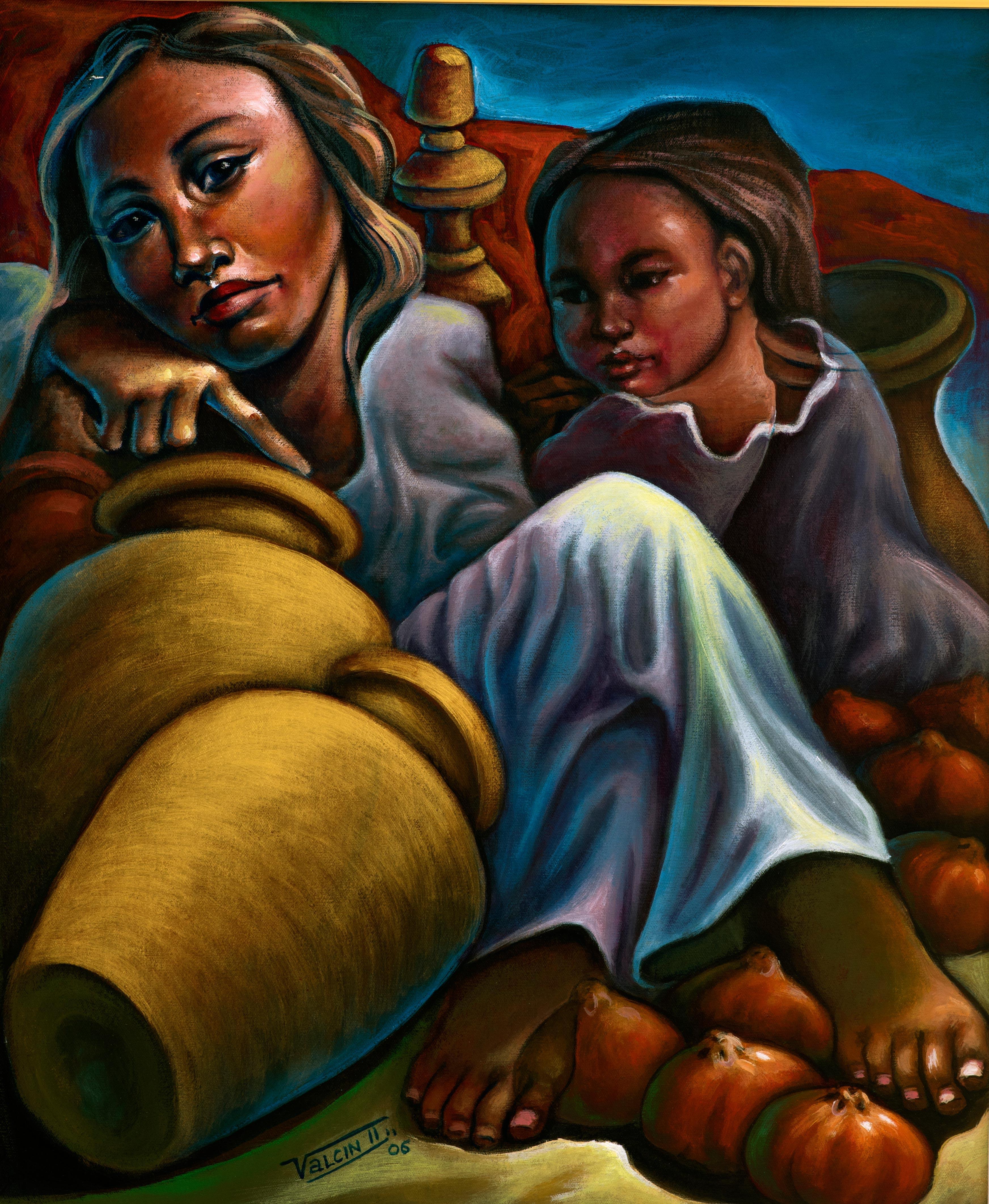 Mère-et-Fille(2006)-24x20---Acrylique-sur-canevas