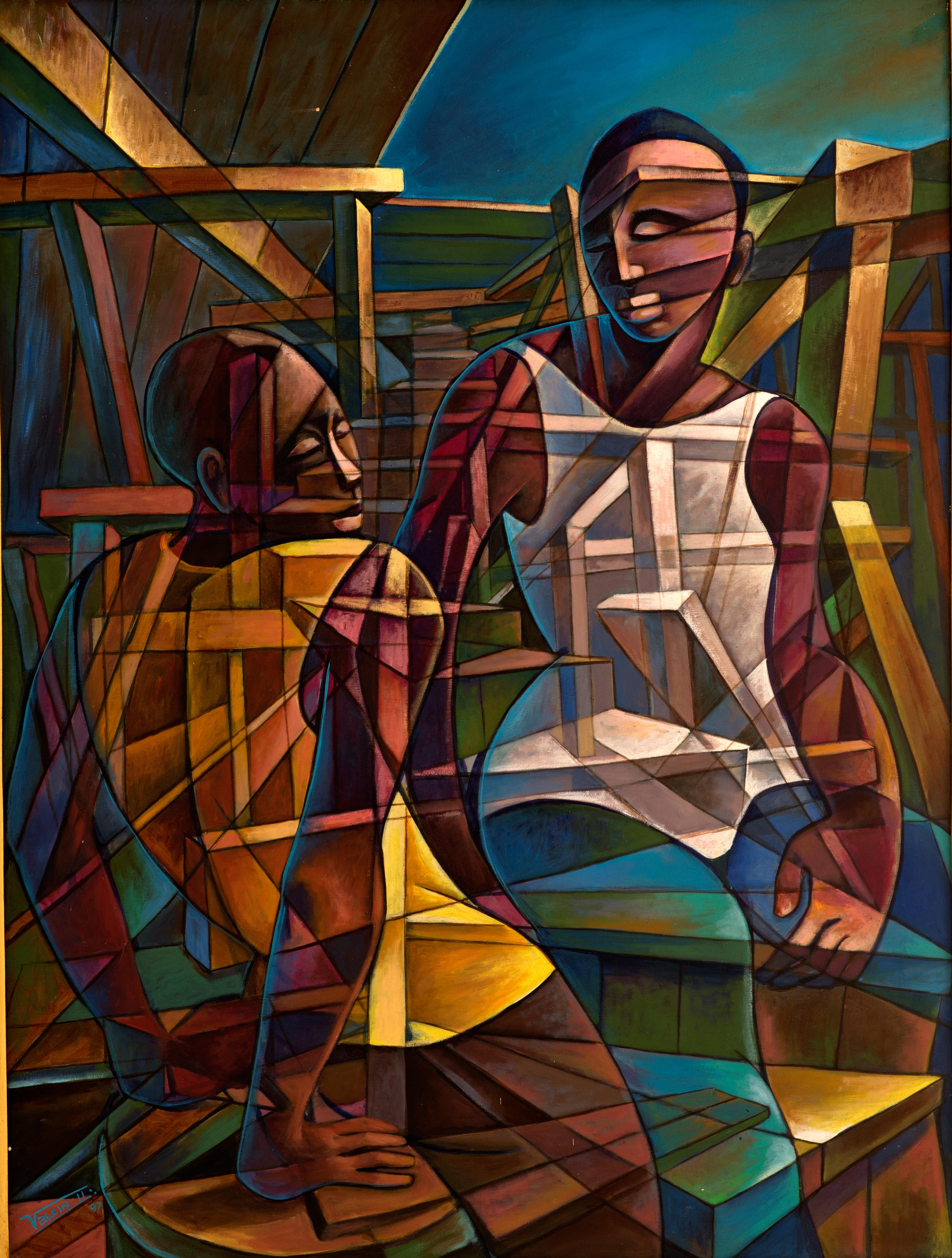Pause-au-chantier(1997)-30x40---Acrylique-sur-toile